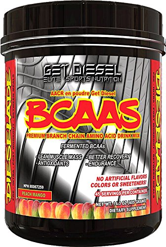 Vegan Bcaa - All Natural - Dieselade Best Available - 45 servings (Peach Mango)
