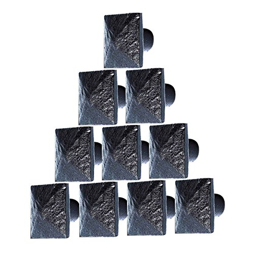 10 Cabinet Knobs Wrought Iron Black Knobs 1