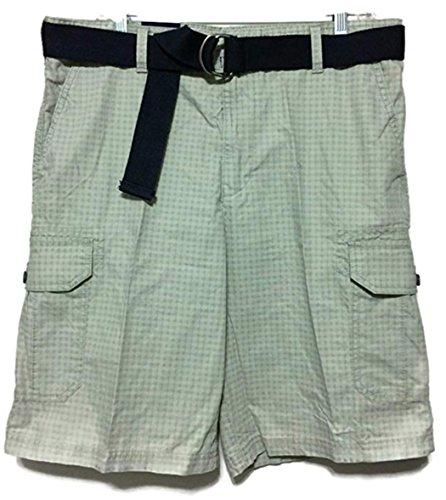 Timberland Mens Shorts - Izod Mens Belted Cargo Short (42, High Rise)