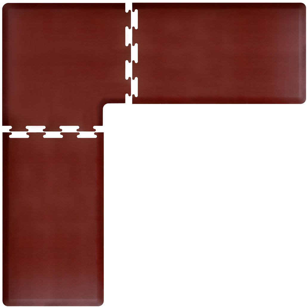 WellnessMats PuzzlePiece Collection L Series Burgundy Anti-Fatigue Mat, 8 x 8 Foot by WellnessMats