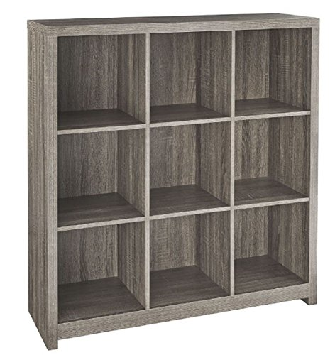 ClosetMaid 37 in. x 39 in. Premium Weathered Teak 9-Cube Organizer -