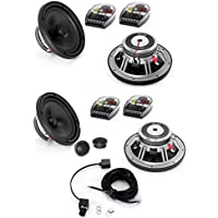 JL Audio C5-650 Evolution C5 Series 6-3/4 component speaker system And C5-650X - JL Audio 6.5 C5 Series Coaxial Speakers With JL Audio HD-RLC Amplifier Remote Level Control and Cable