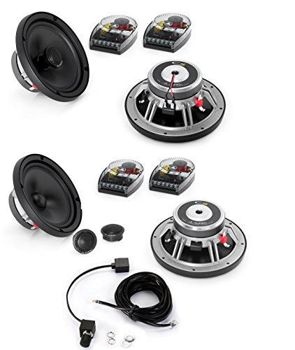"""JL Audio C5-650 Evolution C5 Series 6-3/4"""" component speaker system And C5-650X - JL Audio 6.5"""" C5 Series Coaxial Speakers With JL Audio HD-RLC Amplifier Remote Level Control and Cable"""