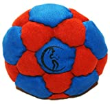 32 panel Hacky Sack (RED/BLUE) - Pro Freestyle 32-panel Footbags AKA Hacky Sacks - Ideal for kicks and catches!