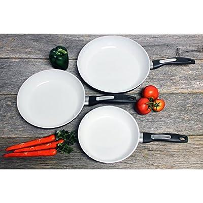 BergHOFF Black Ceramic 3-piece Fry Pan Set