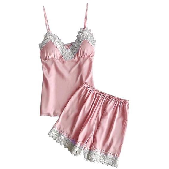 Handaxian Pijamas Ropa Interior para Damas Baby Doll Short Pyjamas ...