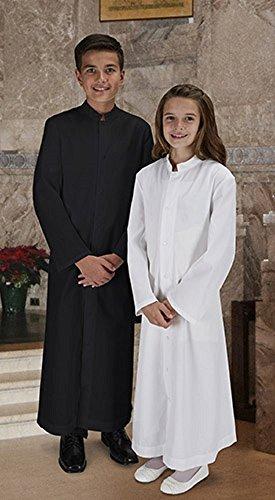 Altar Server Cassock- Black- Child Size (Server Cassock)