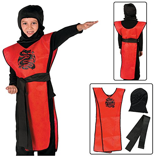 Child's Ninja Costume Kit (3 Pcs. Per Set) (Ninja Child Costume Kit)