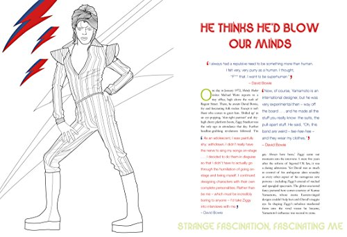 David Bowie Starman A Coloring Book Available In Oman Muscat