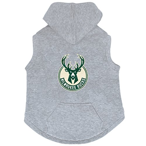 NBA Milwaukee Bucks Pet Hooded Crewneck, Large by Littlearth
