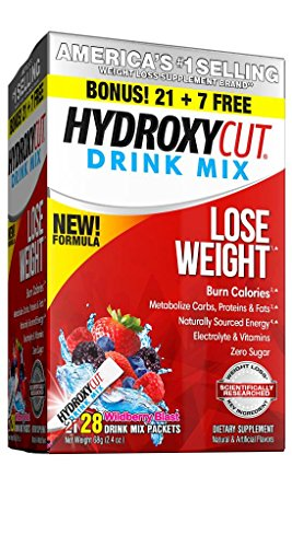 Hydroxycut Drink Mix, Scientifically Tested Weight Loss and Energy, Weight Loss Drink, 28 Packets (68 grams)