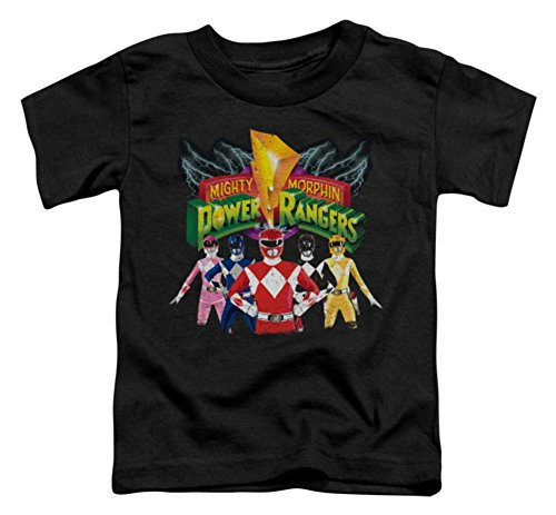 Toddler: Power Rangers - Rangers Unite Baby T-Shirt Size 4T (Heroes And Villains Clothing)