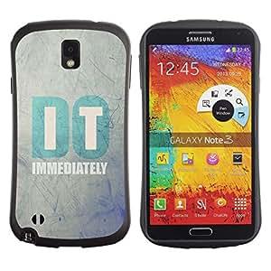 """Hypernova Slim Fit Dual Barniz Protector Caso Case Funda Para Samsung Note 3 [Hágalo Clever motivación inspirada texto""""]"""
