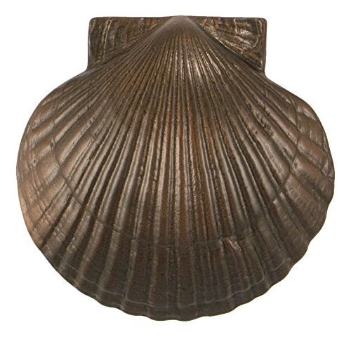 Bronze Standard Doors - Michael Healy Designs MHS33 Sea Scallop Door Knocker (Standard Size), Oiled Bronze