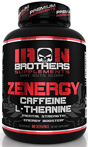 Energy Pills Caffeine (Arabica Beans) L-Theanine 200 mg - No Crash No Jitters Focus & Clarity for Your Mind & Body - Top Nootropic Stack for Cognitive Performance - 60 Veggie Capsules (Best Iron Pills For Energy)