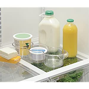 mDesign Refrigerator Round Storage Trio Bins for Yogurt, Cottage Cheese, Condiments - Clear
