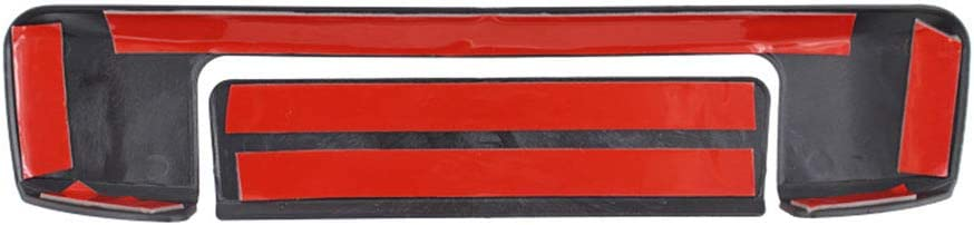 QQKLP Poign/ée de Porte arri/ère Couverture en Plastique ABS Noir Mat Tail Gate Protection Fitfor Ford Ranger 2012-2018 T6 T7 4 4 ramassage Accessoires,Noir