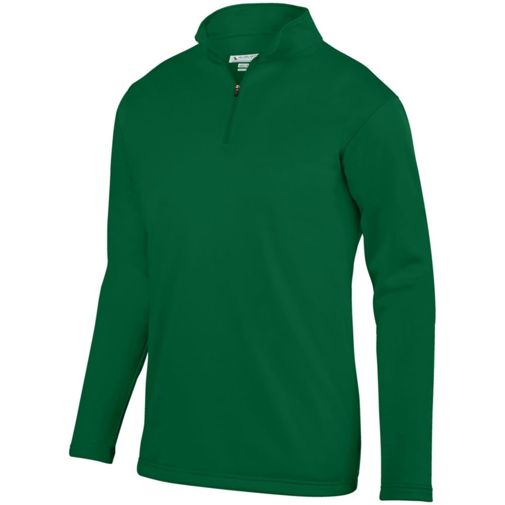Dark Green Large Augusta Sports Youth Wicking Fleece Pullover