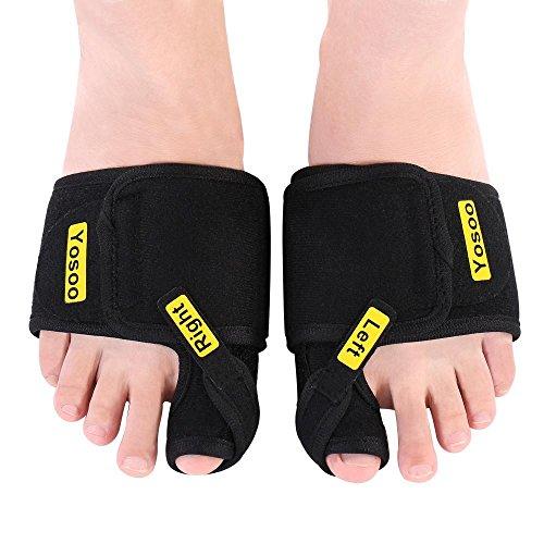 Yosoo Bunion Corrector,1 Pair Adjustable Soft Comfortable Bunion Splints Brace Big Toe Straighteners Separators for Men & Women