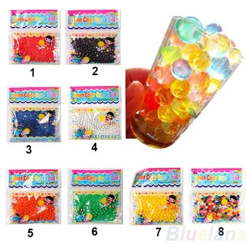 Crystal Soil - 2015 10bag Lot Pearl Shaped Crystal Soil Water Beads Mud Grow Magic Jelly Balls Wedding Home Decor - Crystal Water Pearl Toy Ball Ball Crystal Toy Bead Bag Water Magic Ball Sphe