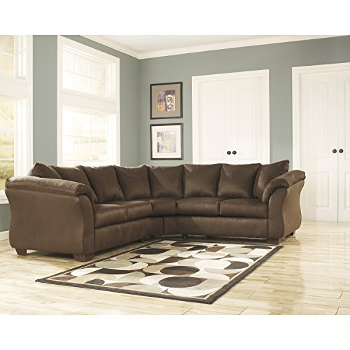 Flash Furniture Signature Design by Ashley Darcy Sectional in Cafe Microfiber