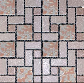 Vogue Retro Pattern Pink Porcelain Mosaic Tile For Bathroom Floors And Walls Designed In Italy Amazon Com