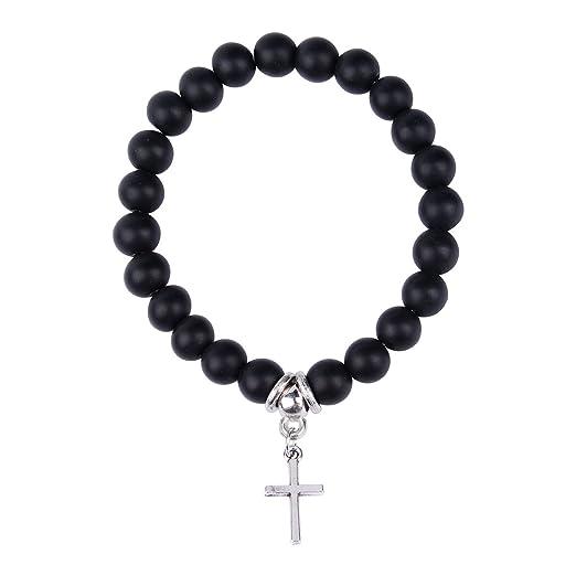 Tornado 8 mm Scrub Negro Onyx Beads Buddhist Prayer Mala ...