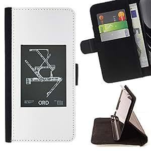 Momo Phone Case / Flip Funda de Cuero Case Cover - Modelo de la ingeniería del cartel Blanca - HTC One M9