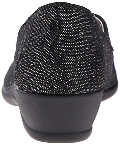 Soft Style by Hush Puppies Rory Grande Lona Plataformas Black Sparkle Linen