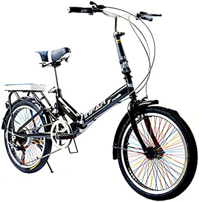 Paseo Bicicleta Plegable Unisex para Adultos Bicicleta De 6 ...