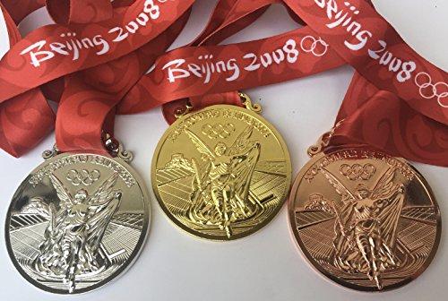 2008 Beijing Olympic Souvenir Medals set : Gold, Silver, ...