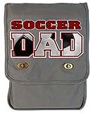Tenacitee Soccer Dad Ball Cutout Smoke Grey Canvas