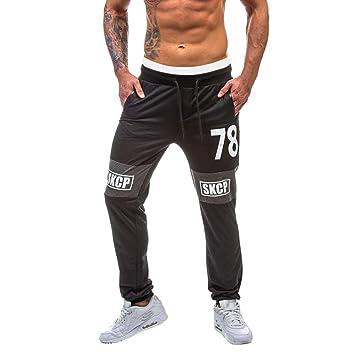 26087171a89b3 Amlaiworld Pantalones de Deporte Hombre Pantalones de Chándal para Hombre  Pantalón Deportivo Jogger para Fútbol Gimnasio