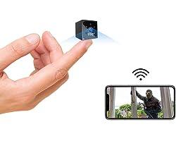 Spy Camera, AOBO 4K HD Mini WiFi Wireless Hidden Camera Smallest Security Cameras with App Micro Nanny Cam Night Vision Motio