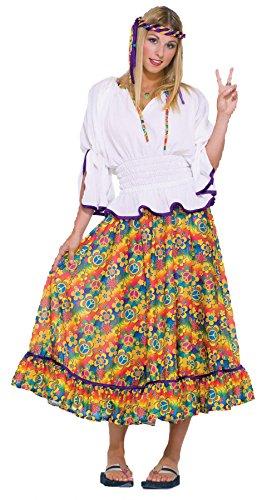 Forum Novelties UHC Women's Woodstock Girl 60's Hippie Flower Outfit Halloween Fancy Costume, OS ()
