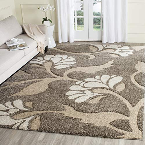 Safavieh Florida Shag Collection SG459-7913 Floral Textured 1.18-inch Thick Area Rug
