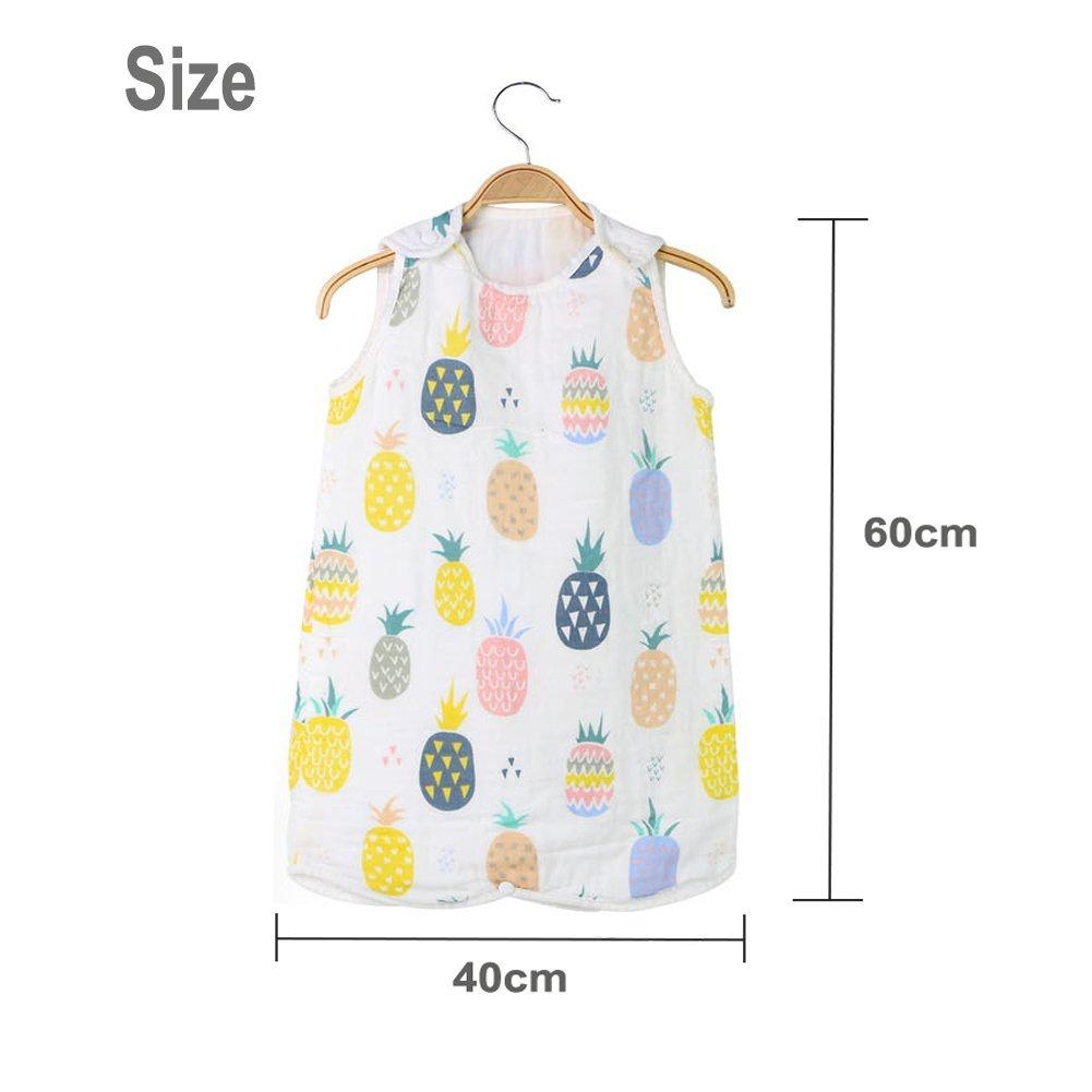 0-6 Months// 60-85cm Baby Baby Muslin Safe Nights 0.5 tog Sleeping Bag Holoras Babys Summer Sleeping Bag