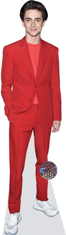 Red Suit Life Size Cutout Timothee Chalamet