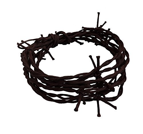 12' Rusty Barbed Wire Novelty String Party Garland by The Beistle Co.