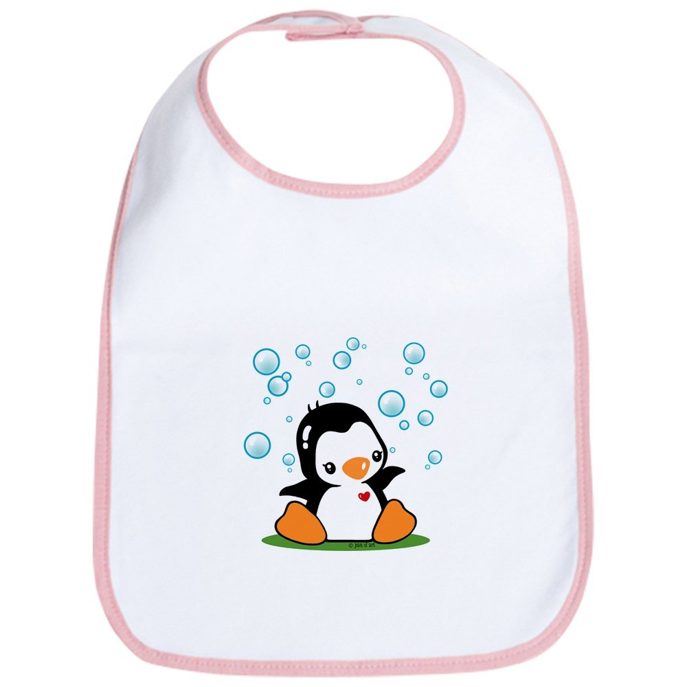 CafePress - Penguin (A) - Cute Cloth Baby Bib, Toddler Bib