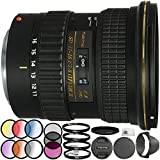 Tokina AT-X 116 PRO DX-II 11-16mm f/2.8 Lens for Canon EF 18PC Accessory Kit Which Includes Manufacturer Accessories + 3 Piece Filter Kit (UV-CPL-FLD) + 4 Piece Macro Filter Set (+1,+2,+4,+10) + MORE