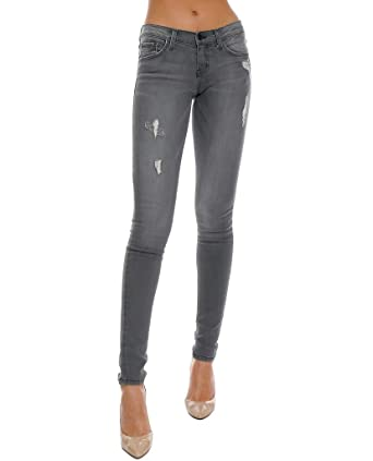 078675a69da Flying Monkey Piin Gray Denim Super Skinny Jeans Mid-Rise Distressed (25)