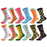 WeciBor Women's Funny Fruit Pattern Casual Combed Cotton Socks 12 Packs