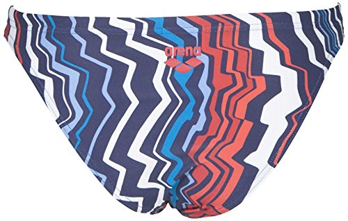 Arena Women's Zig Zag MaxLife Bottom, Navy-Red, 24 by Arena