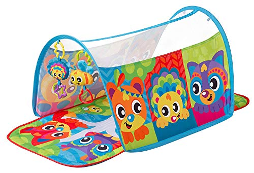 Playgro Honey Bee Bear Activity Tunnel Gym for Baby Infant Toddler Child 0186992, Playgro is Encouraging Imagination with STEM/STEM for a Bright Future - Great Start for a World of Learning