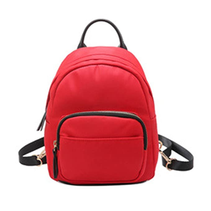 Amazon.com  Stylish Nylon Waterproof Backpack Small Stitching Leisure Shoulder  Bag with Adjustable Strap for Women Girls  Clothing fc356a0bc3f57