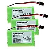 Floureon 900mAh Cordless Phone Battery for Uniden TRU8885, TRU8885-2, TRU88852, TRU8888, TRU9460, TRU9465, TRU9480, TCX-800, TXC-146, TXC-400, TXC-580, TXC-860A, UIP1868, UIP1868-8, UIP18688, Wham, BBTY0457001, BBTY0458001, BT446, BP446, BT1005, 3 pack, Office Central