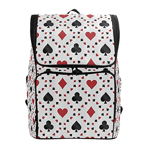 MONTOJ Awesome Poker Cards Outdoor Hiking Backpack Hiking & Travelling Backpack with Laptop Compartment & Camping Backpack
