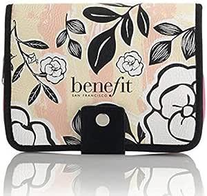 Benefit Cosmetics - Bolsa de maquillaje floral con cierre de cremallera: Amazon.es: Belleza