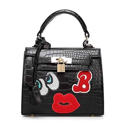 Borsa moda singola rosso fumetto borsa donna del borsa a tracolla Maerye occhi labbro B grandi adY1WnpHa